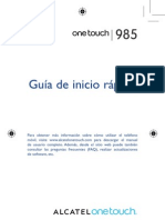 Onetouch 985 Quick Guide Spanish