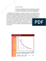 La función y curva de demanda