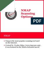 NMAP Scannning Options