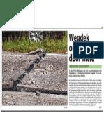 Artikel HBVL 22/07/2013 - Wegdek omhoog door hitte