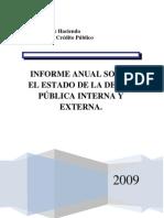 INFORME ANUAL SOBRE EL ESTADO DE LA DEUDA PÚBLICA INTERNA Y EXTERNA.