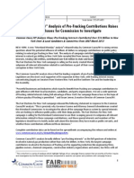Common Cause NY analysis of pro-fracking contributions