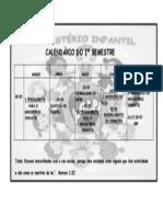 CALENDÁRIO I SEMESTRE-