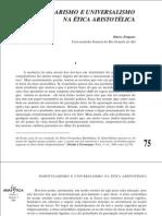 Zingano, Particularismo e universalismo na ética aristotélica