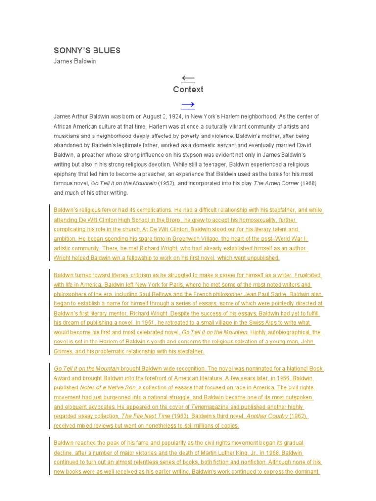 james baldwin biography pdf