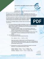 Reacciones de Neutralización del Cloro y otros agentes clorantes en Aguas con Tiosulfato de sodio