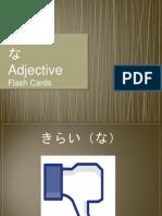 na adjective flash cards