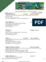Directorio Metalmecánica y Metalúrgica