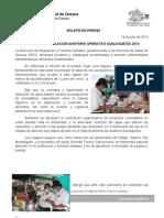 19/07/13 Germán Tenorio Vasconcelos implementa Regulacion Sanitaria Operativo Guelaguetza 2013