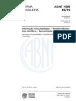 Abnt Nbr 10719 2011 Relatorio Tecnico Cientifico
