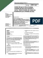 NBR 7397 - Produto de Aço ou Ferro Fundido - Determinaçã da massa do revestimento