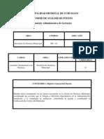 INFORME DE ANÁLISIS DE PUESTO