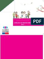2013 Catalogo de Prestaciones PADBP y PARN 2013