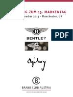 BrandClubAustria Bentley Ogilvy Einladungsfolder 20130905