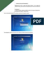 Tutorial Instalación de Windows 7