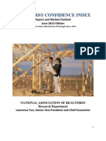 June 2013 Realtors Confidence Index