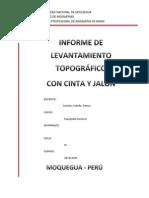 INFORME DE TOPOGRAFIA(CINTA Y JALÓN)