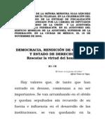 Democracia Rendicion de Cuentas y Estado de Derecho