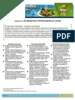 benefits of breakfast factsheet