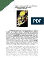 La fenomenología y la clausura de la metafísica -Derrida