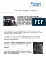 Marine Wildlife Viewing Guidelines