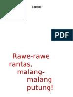Rawe-Rawe Rantas, Malang-Malang Putung  - Ir. Soekarno, 17 Agustus 1947