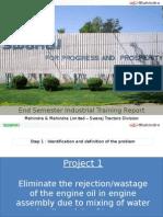 Mahindra and Mahindra - Swaraj Tractor Division - Project Semester presentation