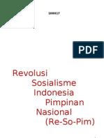 Revolusi Sosialisme Indonesia Pimpinan Nasional - Ir. Soekarno, 17 Agustus 1961