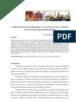 A FORMAÇÃO INICIAL DO PROFESSOR E A FUNÇÃO DA ESCOLA