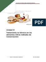 Unidad IV-metodos No Termicos Para Conservar Alimentos