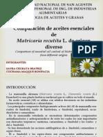 Comparacion de Aceites Esenciales de Matricaria Recutita l...s