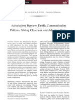 Family Communication Patterns, Sibling Closness