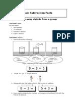 Unit3basic Subtraction Facts
