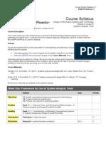 1 BSA412 Course Syllabus