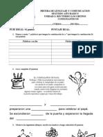 Prueba de Lenguaje y Comunicacion Grupos Consonanticos