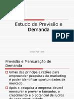 ESTUDO DE PREVISÃO E DEMANDA