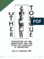 Mother Tongue Newsletter 11 (September 1990)