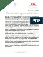 21-07-13 SHF CONTINUA CON EL ANALISIS DE LAS UNIDADES DE VALUACION PARA EVALUAR SU REGISTRO