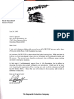 6/30/95 letter from actor David Hasselhoff to Save-A-Life Foundation founder/president Carol J. Spizzirri