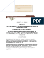 Decreto 311 equipamientos cultos