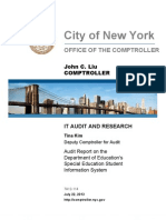 John Liu special education audit — Special Education Student Information System (SESIS)