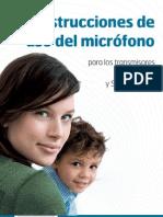 SCOLAtalk SCOLAteach Instrucciones de Uso Del Microfono