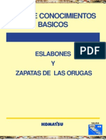 Manual Eslabones Zapatas Orugas Komatsu