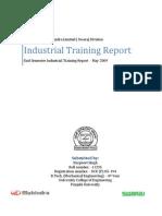 summer training report of mahindra motors for bba purpose