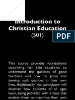 Introduction to Christian Education
