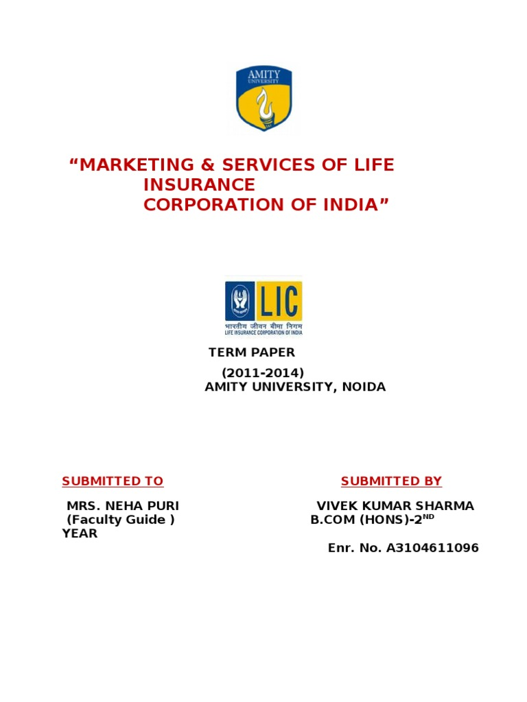 Marketing Strategy of Life Insurance Corporation of India ...