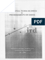Estatistica, Teoria de Erros e Processamento de Dados(Parte I)
