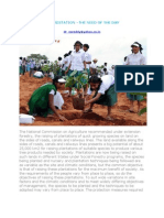 AFFORESTATION –THE NEED OF THE DAY