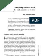 Crisis de Autoridad y Violencia Social, linchamientos en México