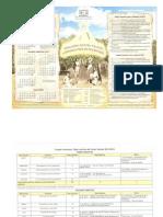 Calendario Escolar y Cuadre preliminar para el año 2013-2014